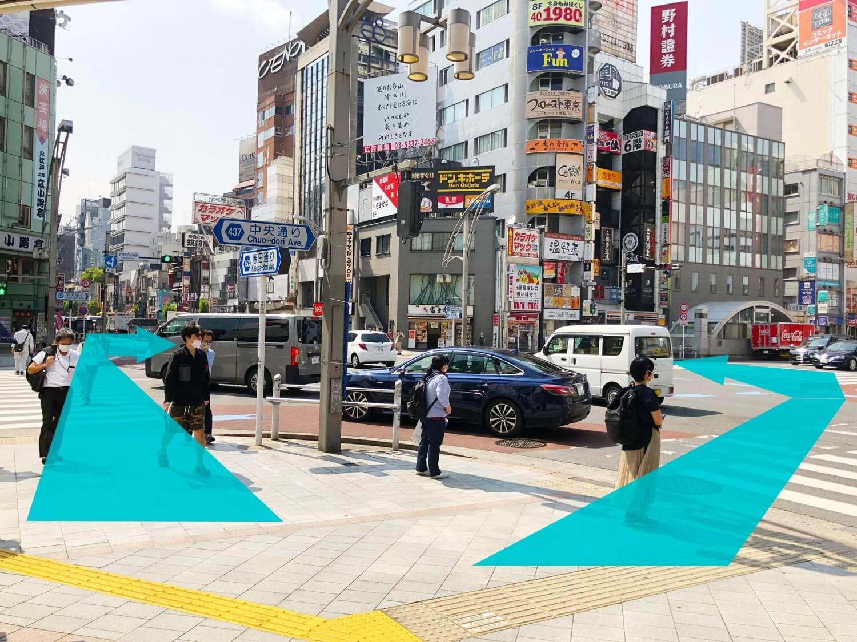 上野店の順路